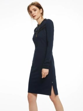Scotch&Soda tmavo modré dlhé šaty Fitted Sweater Dress