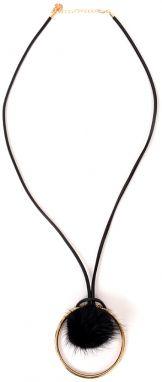 af3631e32 Doca čierny náhrdelník s čiernym brmbolčekom
