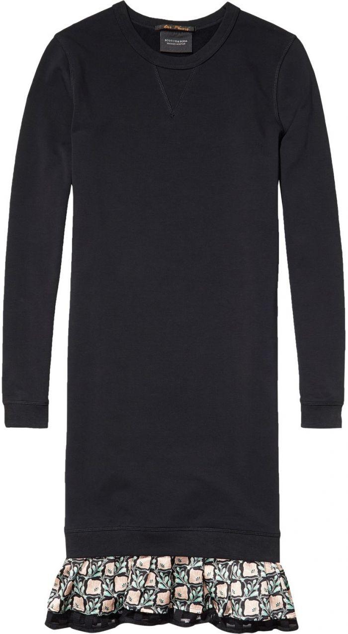 3974ee3f43bb Scotch Soda čierne športové šaty Ruffled Sweater Dress značky Scotch   Soda  - Lovely.sk