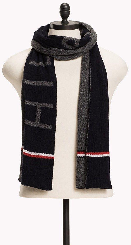 f24035a308 Tommy Hilfiger zimný pánsky šál Wool Blend Scarf značky Tommy Hilfiger -  Lovely.sk
