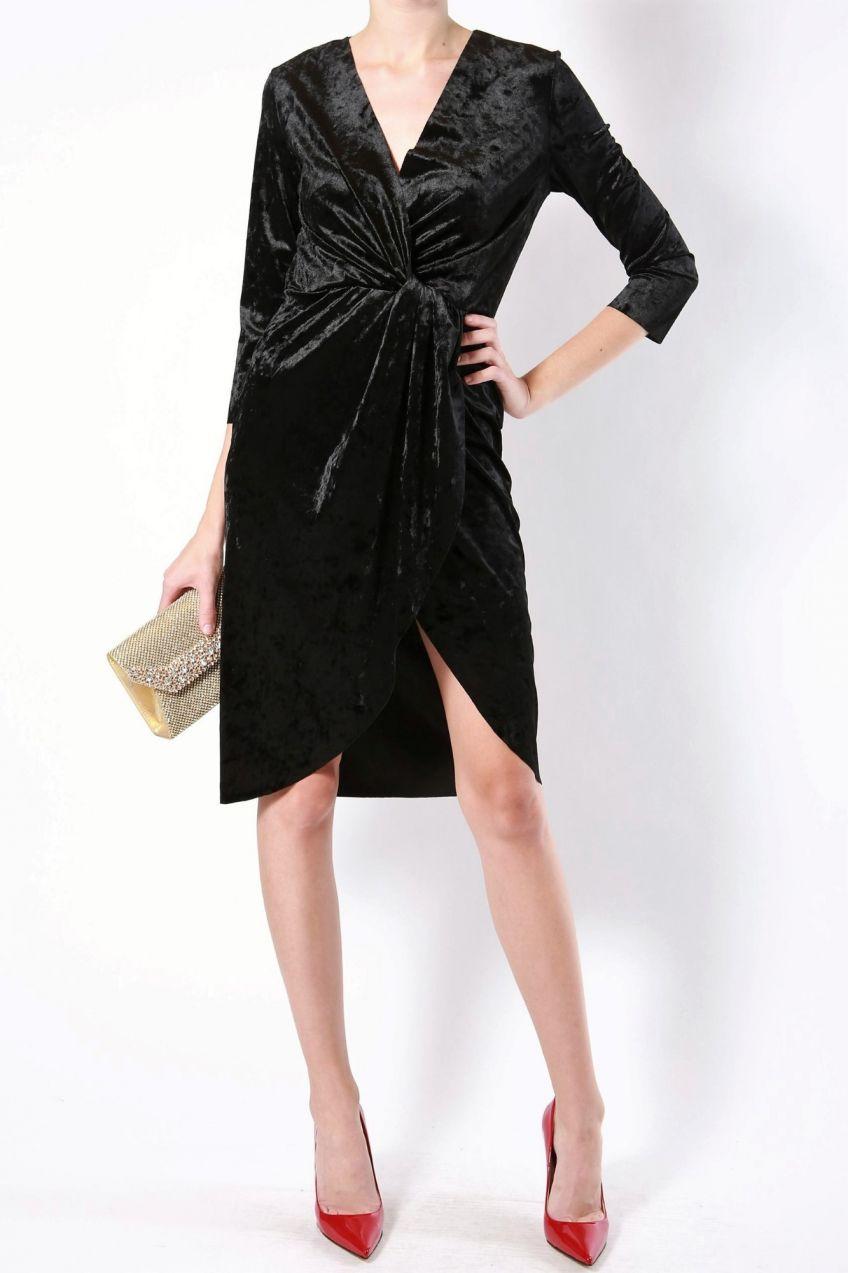 Rinascimento čierne zamatové elegantné šaty značky Rinascimento - Lovely.sk 0d3d169c962
