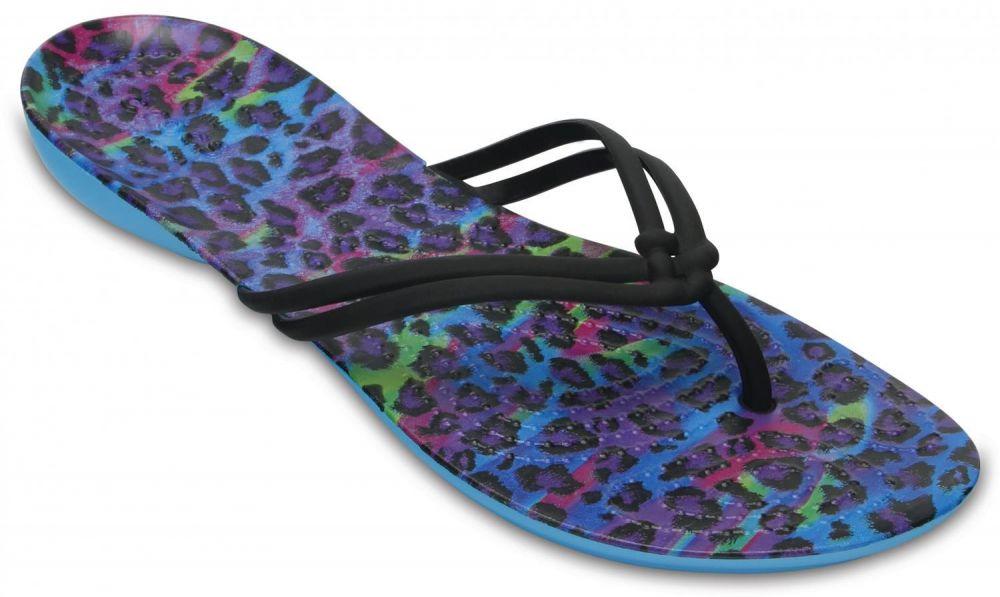 Crocs modré žabky Isabella Graphic Flip Multi   Leopard značky Crocs -  Lovely.sk ddbf0f0a85