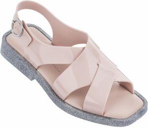 219778158e4 Melissa púdrovo ružové sandále Melrose Pink Glitter Silver
