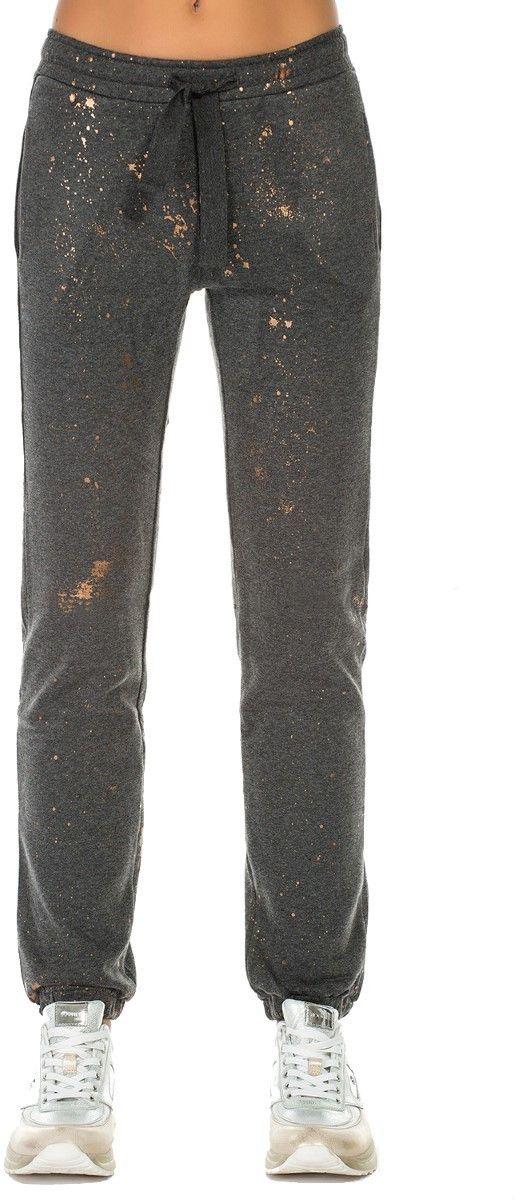 8076d83b4e14 Deha tmavo sivé teplákové nohavice so zlatými motívmi značky DEHA -  Lovely.sk