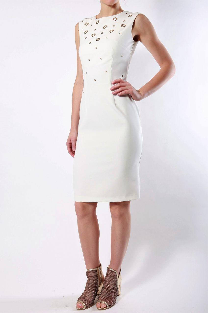 6f1827eee7a9 Rinascimento biele puzdrové šaty so zlatými prvkami značky Rinascimento -  Lovely.sk