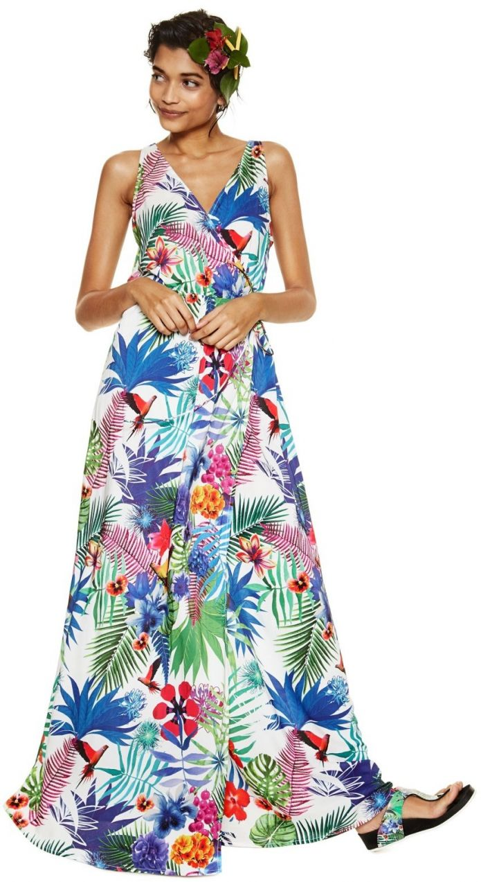 919d45b15754 Desigual farebné šaty Jasmine s tropickými motívmi značky Desigual -  Lovely.sk