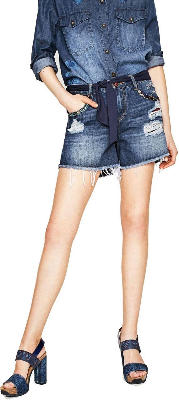 Desigual džínsové kraťasy Exotic Short Blue značky Desigual - Lovely.sk 12f725fdd0