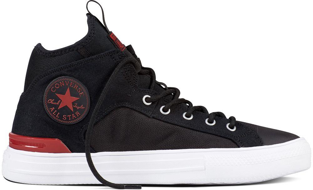 Converse čierne pánske tenisky Chuck Taylor All Star Ultra Mid Black Gym  Red White značky Converse - Lovely.sk e8e7cf94879