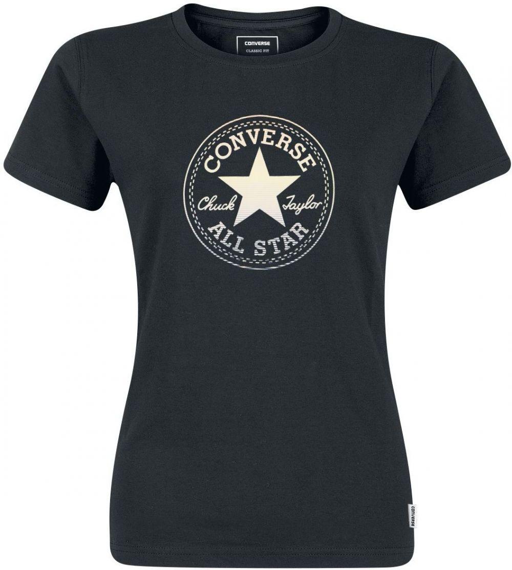 5f6c7b1716c4 Converse čierne tričko Clear Foil Chuck Patch C Tee značky Converse -  Lovely.sk