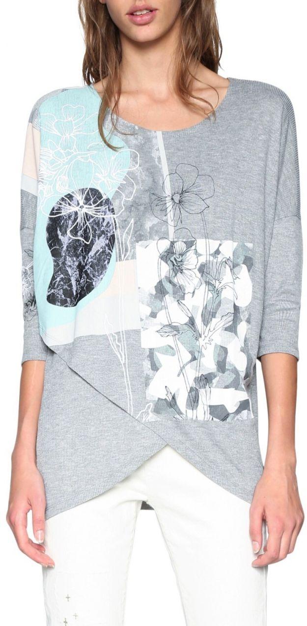 Desigual sivé tričko Calista značky Desigual - Lovely.sk 7f0da7df49c