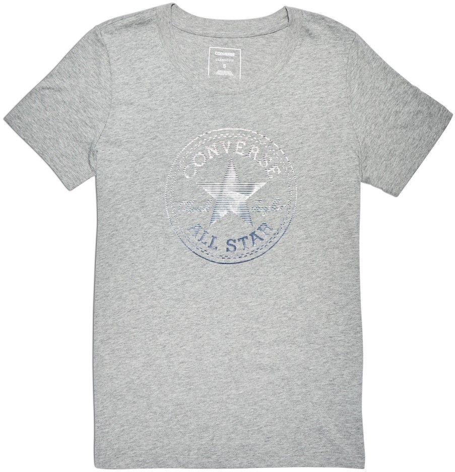 f4988fd3b2 Converse sivé tričko Clear Foil Chuck Patch C Tee značky Converse -  Lovely.sk