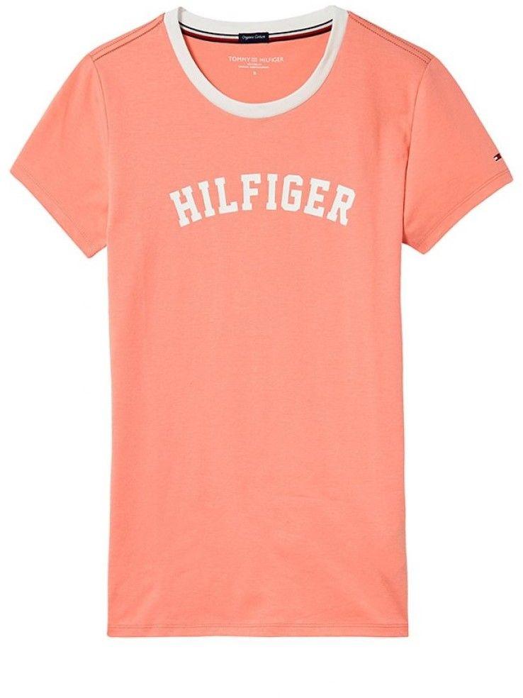 Tommy Hilfiger lososové dámske tričko SS Tee Print značky Tommy Hilfiger -  Lovely.sk 19a188a7ea3