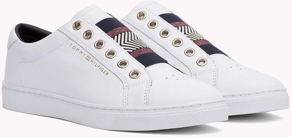 20393cedcea1d Tommy Hilfiger biele kožené tenisky Iconic Metallic Elastic Sneaker White  značky Tommy Hilfiger - Lovely.sk