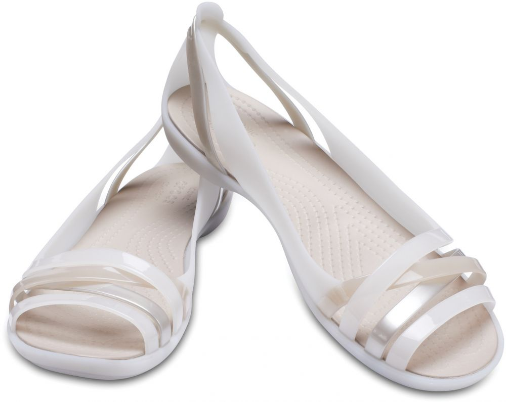 Crocs smotanové sandále Isabella Huarache 2 Flat Oyster Cobblestone značky  Crocs - Lovely.sk 4aa4355b86