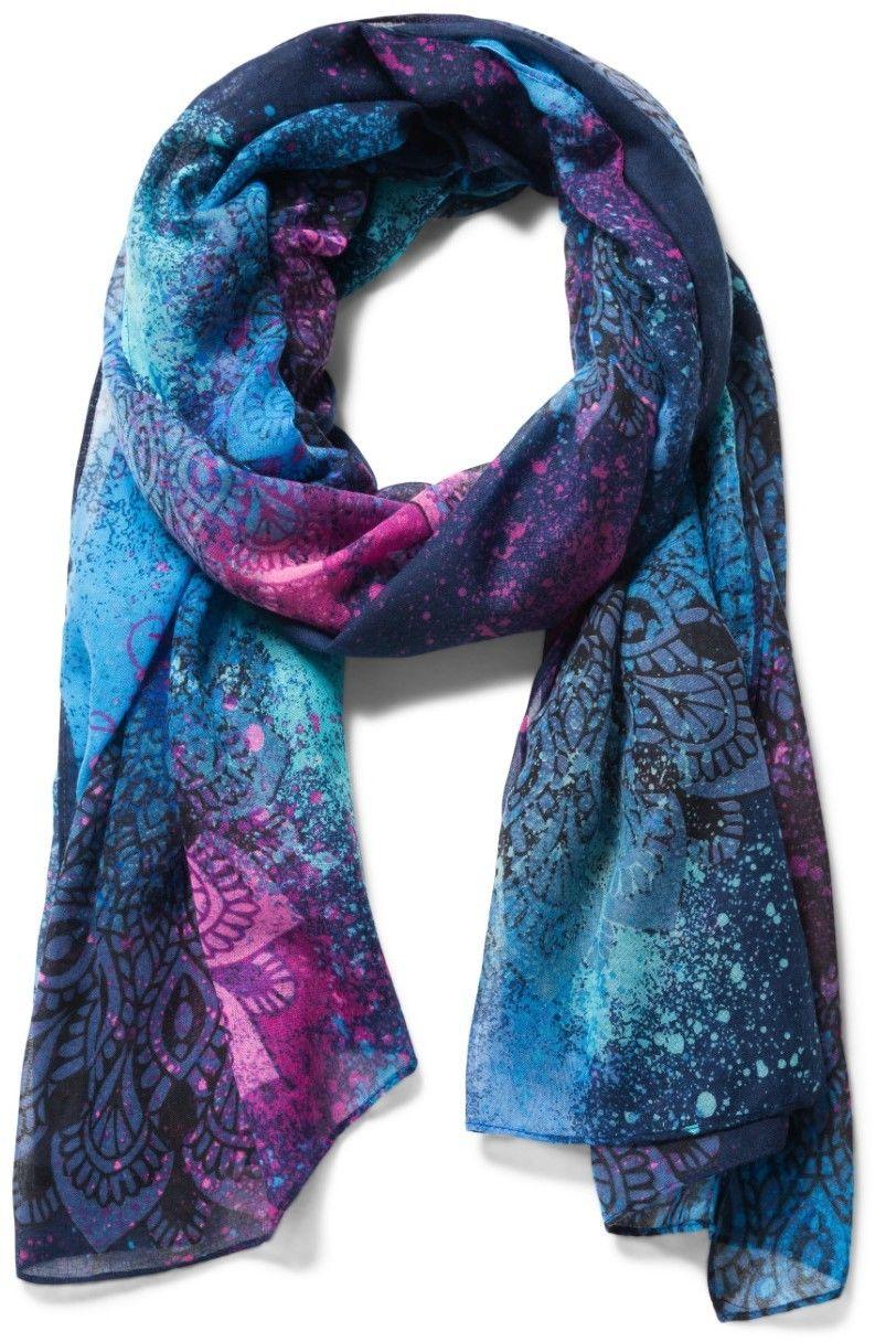 Desigual fialovo-modrý šátek Spray Dots Rectangle značky Desigual -  Lovely.sk d33c570be6