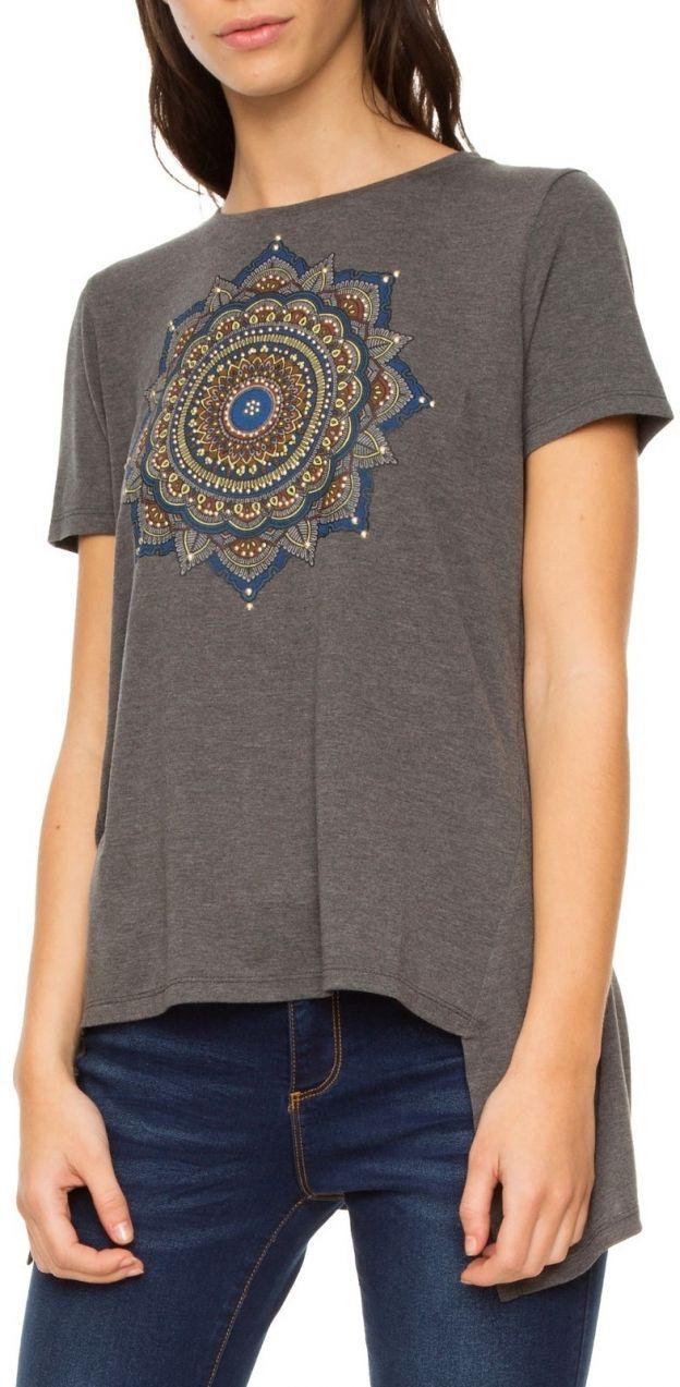 Desigual sivé tričko Morkey značky Desigual - Lovely.sk 28830050299