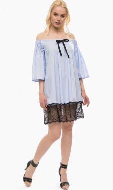 bc3f6b31a941 Fornarina svetlo modré šaty Violette značky Fornarina - Lovely.sk
