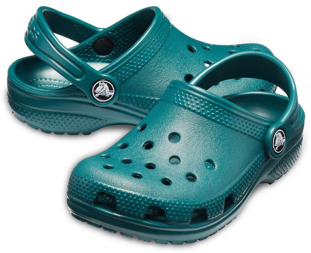 Crocs dětské petrolejové pantofle Classic Clog Evergreen značky Crocs -  Lovely.sk 36846e0557