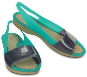CROCS Colorblock Flat Tropical Teal / Nautical Navy