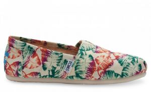 Topánky TOMS Multi Burlap Printed Tropical