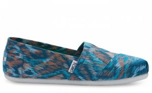 Topánky TOMS Turquoise Multi Canvas Ikat