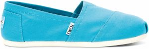 Toms tyrkysové espadrilky Classic Peacock Blue Canvas