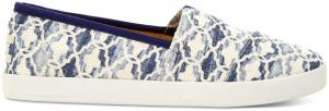 Toms vzorované espadrilky Avalon Natural Blue Textured Canvas Tile