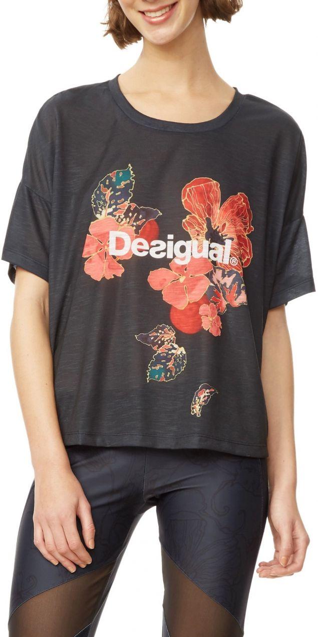 Desigual tmavo modré športové tričko Scarlet Bloom značky Desigual ... 0ddf0737d4c