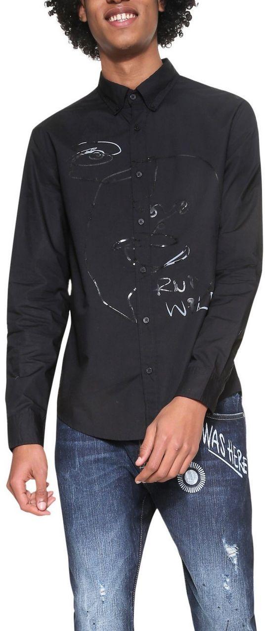 a6d92354ea09 Desigual čierna pánska košeľa Ventura značky Desigual - Lovely.sk