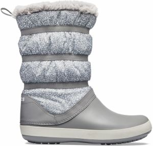 Crocs sivé snehule Crocband Winter Boot Pomegranate