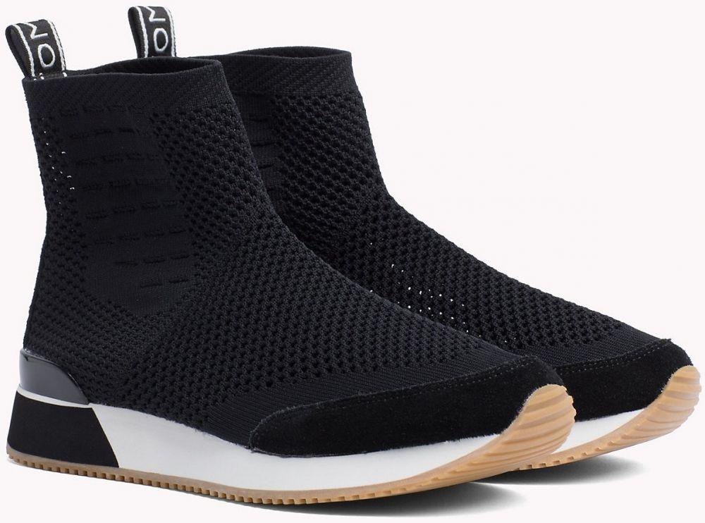 Tommy Hilfiger čierne členkové topánky Knitted Mid Lifestyle Sneaker Black  značky Tommy Hilfiger - Lovely.sk 7b871fe8d0