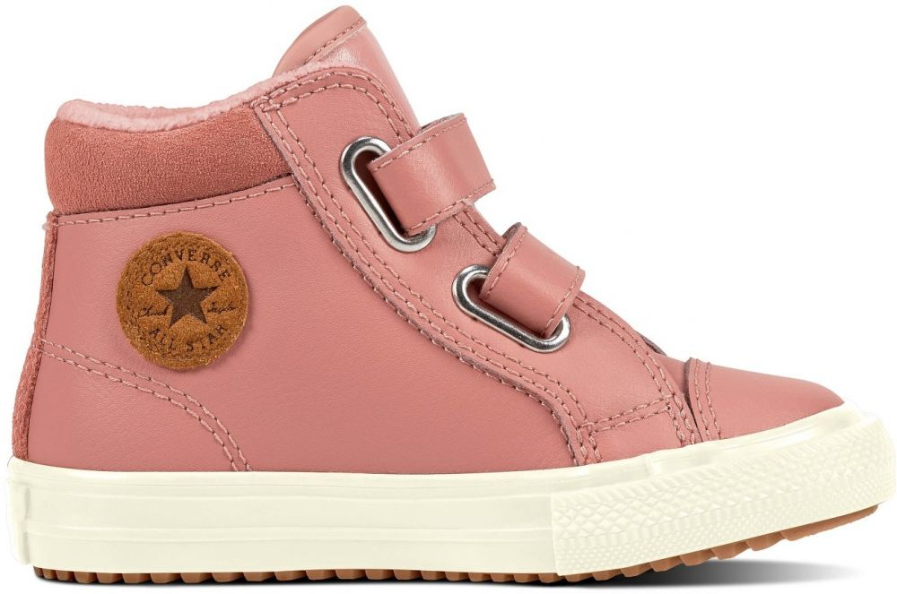 Converse kožené dívčí boty Chuck Taylor All Star 2V PC Boot Hi Rust Pink  značky Converse - Lovely.sk fcb60a919e