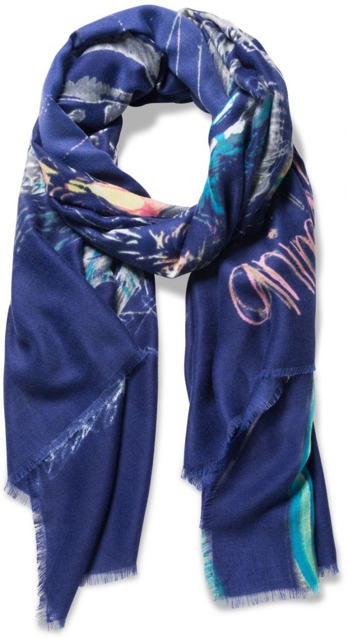 Desigual tmavě modrý šátek Bolimania Tiger značky Desigual - Lovely.sk 265eaf15aa