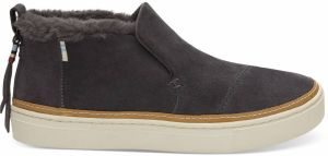 Toms sivé kožené topánky Paxton Forged Iron Grey Suede