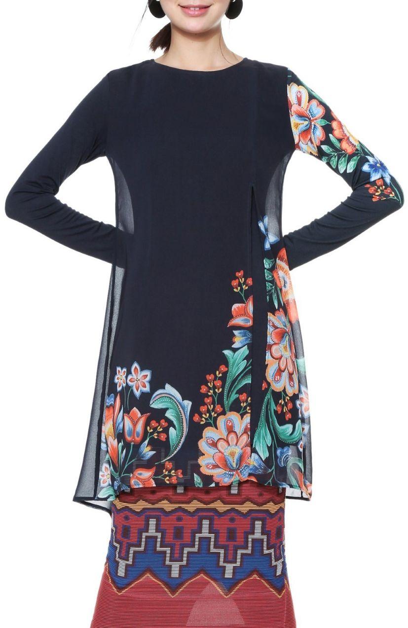 fc46afd11dbd Desigual čierne šaty Utha s farebnými motívmi značky Desigual - Lovely.sk