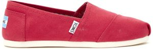 Toms ružové espadrilky Classic Barberry Pink Canvas