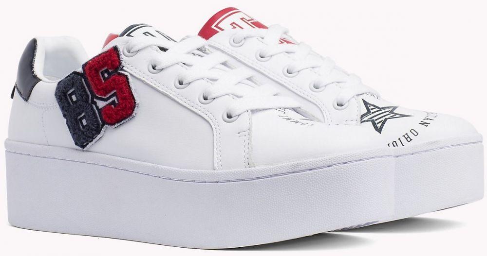 7b3e4fe19f18e Tommy Hilfiger biele kožené tenisky na platforme TJ85 Icon Sneaker značky Tommy  Hilfiger - Lovely.sk