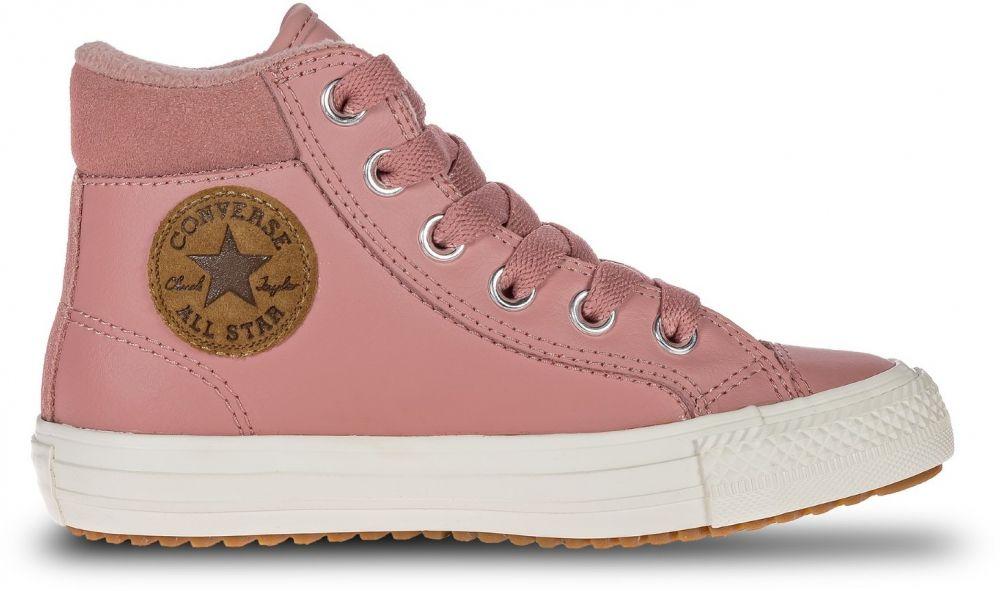 24203ab6f1ff0 Converse růžové kožené boty Chuck Taylor All Star PC Boot Hi Rust Pink  značky Converse - Lovely.sk
