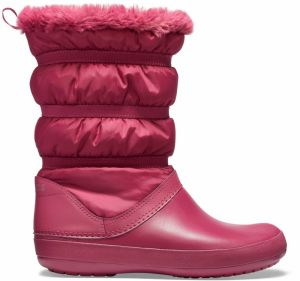 Crocs vínové snehule Crocband Winter Boot Pomegranate
