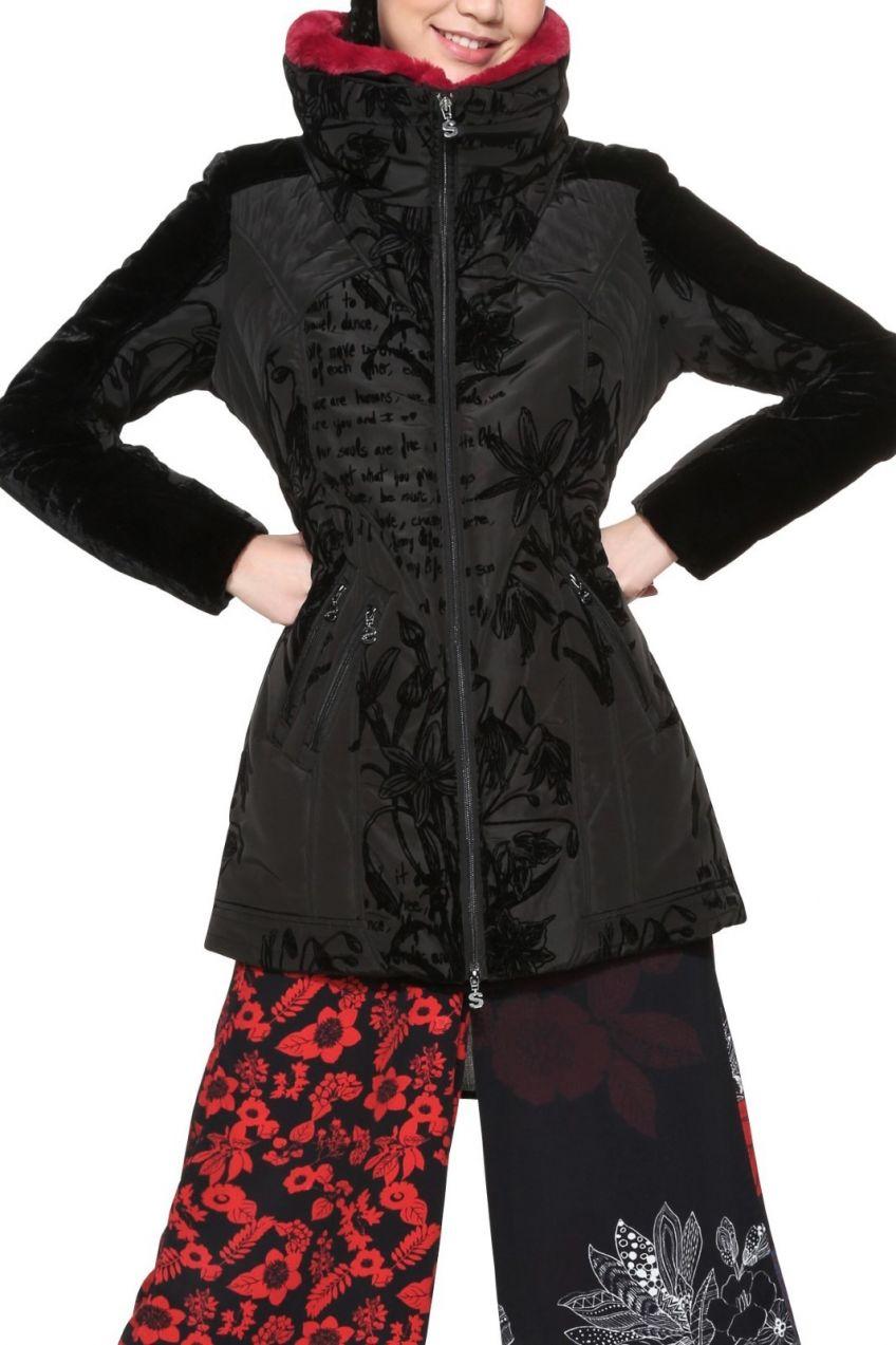 Desigual čierna bunda Morgan voľnejšieho strihu značky Desigual - Lovely.sk ca38cbab39c