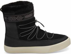 22d3b1465d Toms čierne kožené snehule Alpine Black Leather