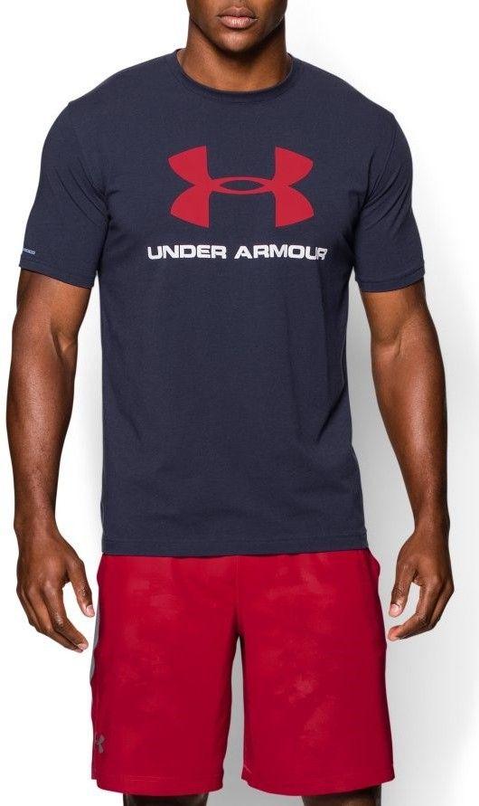 Under Armour tmavo modré pánske tričko Blocked Sportstyle Logo značky UNDER  ARMOUR - Lovely.sk c9029d877aa