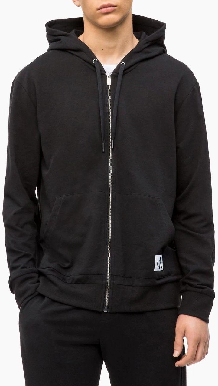 Calvin Klein černá pánská mikina Full Zip Hoodie značky Calvin Klein -  Lovely.sk f26f50c712