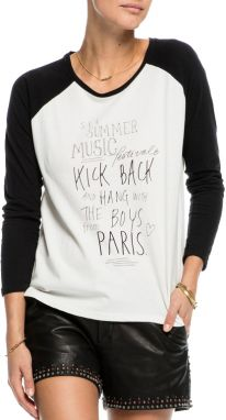 Scotch & Soda biele tričko Long Sleeve Rocker T-Shirt