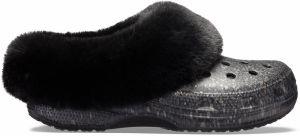 d57ea3c930 Crocs dámske zateplené šľapky Classic Blitzen Clog Black značky ...