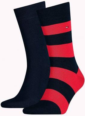 Tommy Hilfiger 2 pack pánskych ponožiek Rugby Blue Red e180aaaa09