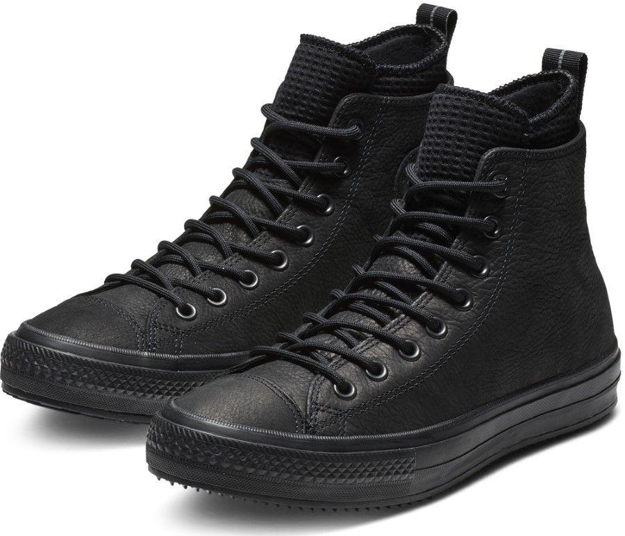 e9a7b5fbe121 Converse čierne kožené pánske tenisky Chuck Taylor All Star Hi Black značky  Converse - Lovely.sk