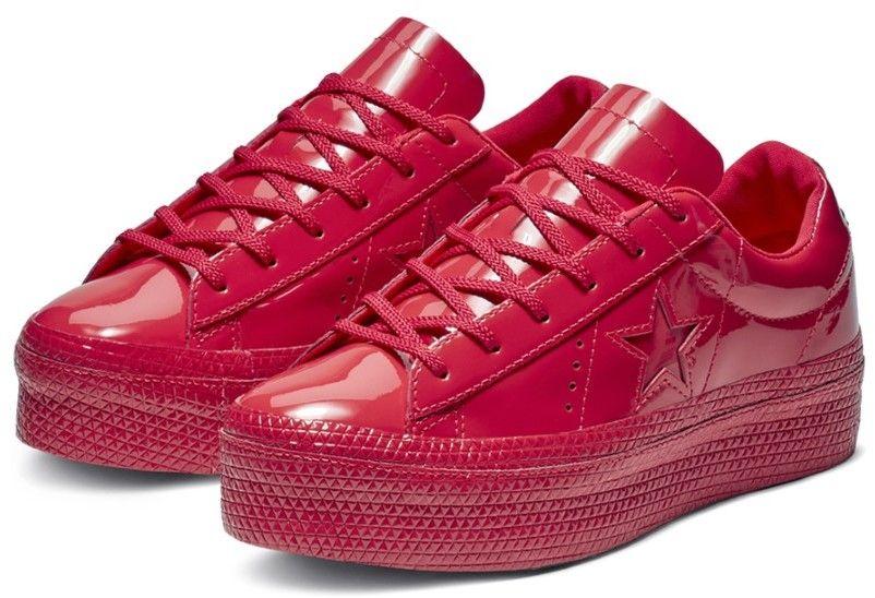 24bdbc19af Converse červené lesklé tenisky na platforme One Star OX Cherry Red značky  Converse - Lovely.sk