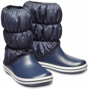 Crocs modré snehule Winter Puff Boot Navy