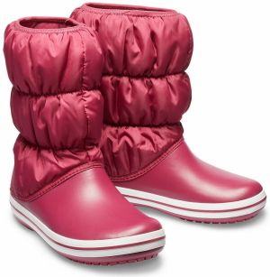 Crocs fuchsiové snehule Winter Puff Boot Pomegranate